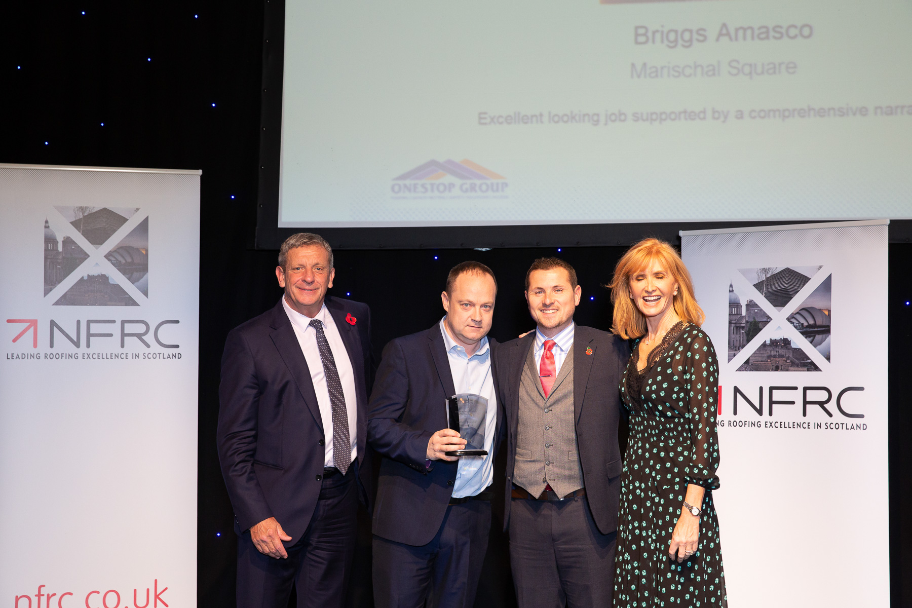 BriggsAmasco's roofing excellence has been rewarded with a successful showing at this year's Scottish NFRC Awards.